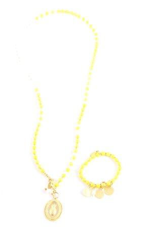 Juwelenkind Halskette blassgelb-goldfarben Casual-Look