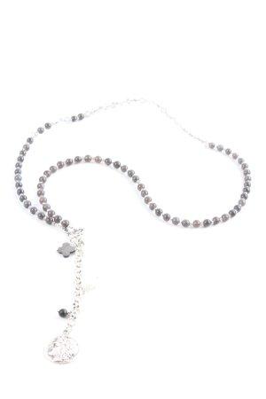 Juwelenkind Naszyjnik brązowy-srebrny W stylu vintage