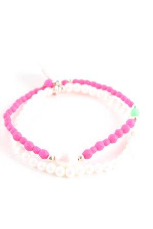 Juwelenkind Perlenarmschmuck pink-weiß Casual-Look