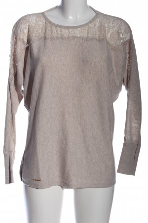 JW I LOVE MILANO Strickpullover creme meliert Casual-Look