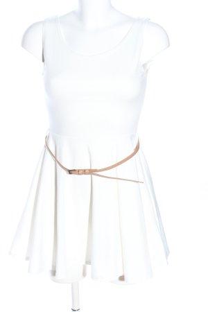 JW Los Angeles A-Linien Kleid weiß Casual-Look