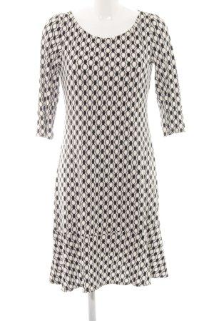 K.D. Klaus Dilkrath Minikleid schwarz-weiß abstraktes Muster Casual-Look