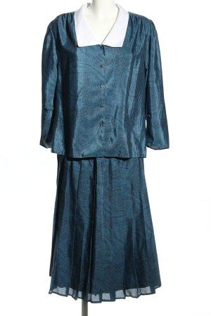 K-dress Woven Twin Set blue allover print elegant