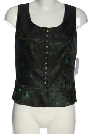 K & K Kaiserjäger Waistcoat khaki-black allover print elegant