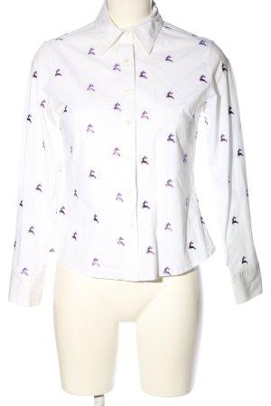 K & K Kaiserjäger Long Sleeve Blouse white-lilac themed print casual look