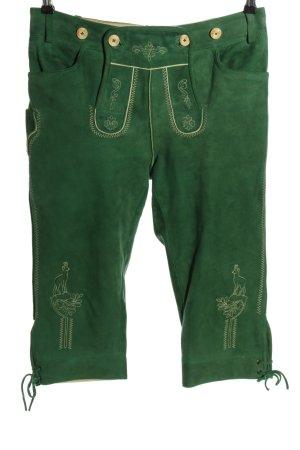 K & K Kaiserjäger Tradycyjne skórzane spodnie zielony W stylu casual