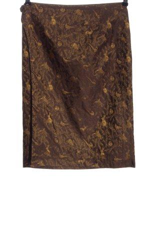 K & K Kaiserjäger Wraparound Skirt brown-light orange elegant