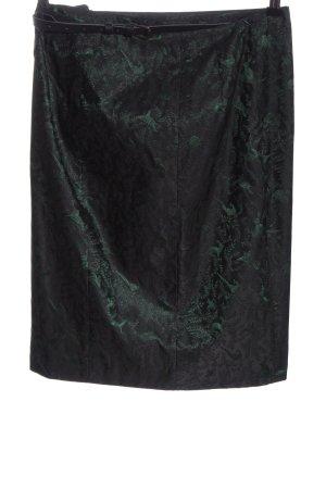 K & K Kaiserjäger Pencil Skirt green-black allover print elegant