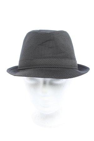 K&L Ruppert Cappello Trilby grigio chiaro motivo a righe stile casual