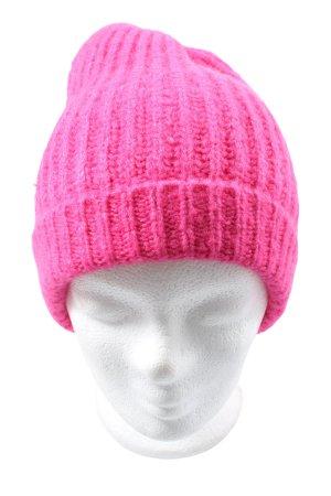 K-RO Czapka typu beanie różowy Warkoczowy wzór W stylu casual