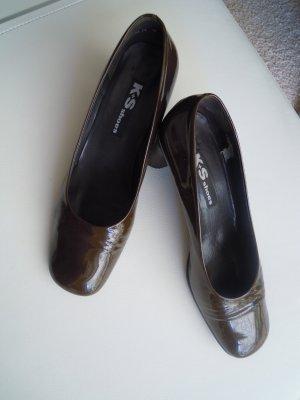 Kennel & Schmenger Chaussure décontractée vert olive cuir