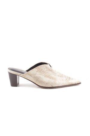 K+S Shoes Sandalo con tacco crema motivo animale stile casual