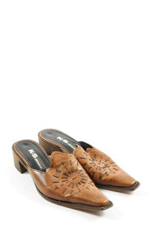 K+S Shoes Sandalo con tacco marrone stile casual