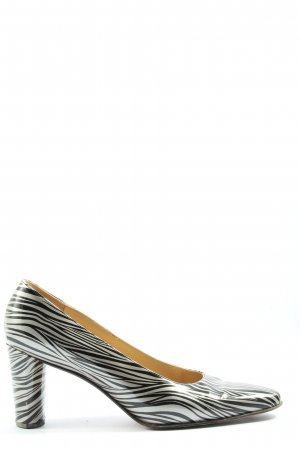 K+S Shoes Loafers white-black allover print casual look