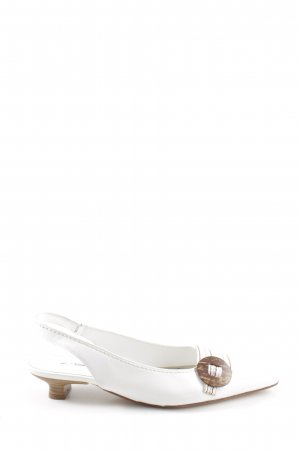 K+S Shoes Slingback-Pumps weiß Casual-Look