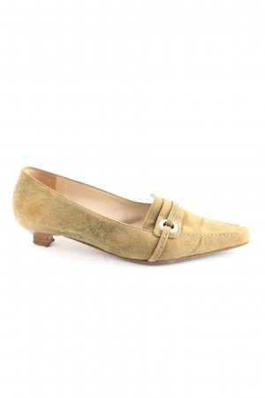K+S Shoes Slipper blassgelb-khaki Elegant