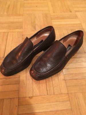 K+S Shoes Pantoffels donkerbruin Leer