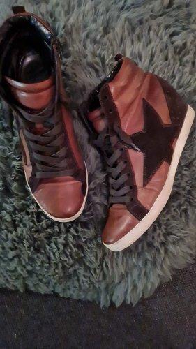 Kennel & Schmenger Sneaker con zeppa marrone-nero