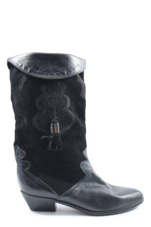 K+S Wide Calf Boots black casual look