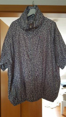 K WAY x MAJE helle Leopard Print / Leoprint oversized Regenjacke / Windbreaker Mabelle / S