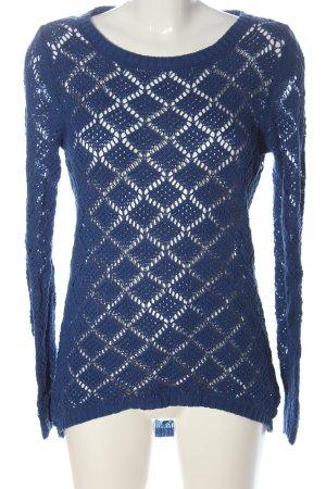 K.woman Szydełkowany sweter niebieski W stylu casual