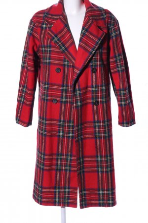 K.Zell Heavy Pea Coat check pattern casual look