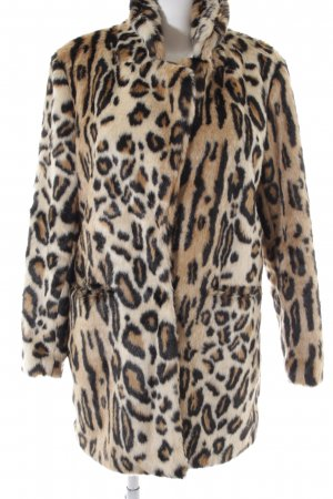 K.Zell Fake Fur Coat leopard pattern extravagant style