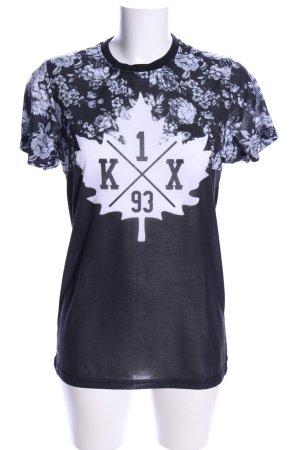 K1X T-Shirt schwarz-weiß Motivdruck Casual-Look