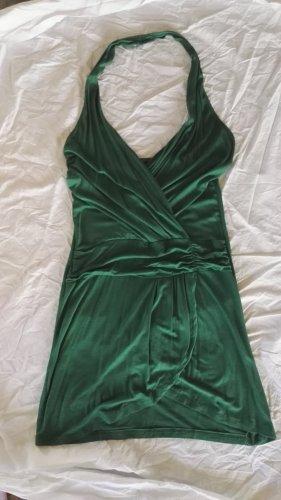K3-6 Jersey Mini Kleid Neckholder in Grün Gr.36 w.Neu
