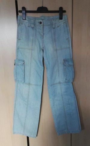 Vaquero de corte bota azul claro