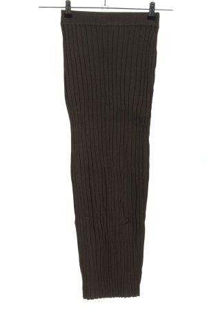 KAALIDO Gebreide rok bruin-khaki casual uitstraling