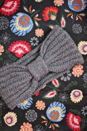 Earmuff grey-dark grey cashmere