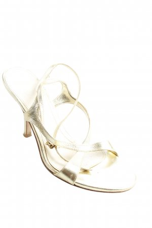 Kämpgen High Heel Sandaletten goldfarben-beige Elegant