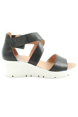 Kämpgen Comfortabele sandalen zwart-wit zakelijke stijl