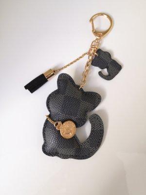 Kätzchen Taschenanhänger Schlüsselanhänger schwarz gold
