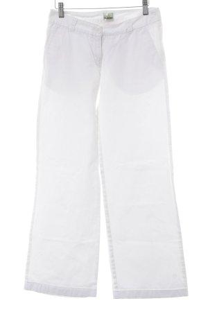 Kafé Stigur Jeans large blanc style décontracté