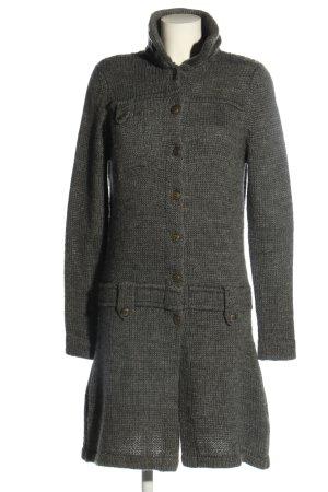 Kafé Stigur Cappotto a maglia grigio chiaro punto treccia stile casual