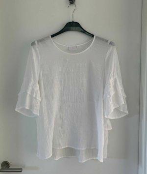 Kaffe Blusa de túnica blanco Viscosa
