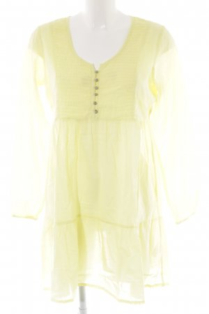 Kaffe Blusenkleid gelb Street-Fashion-Look