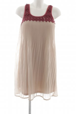 Kaffe Chiffonkleid creme-rot Casual-Look