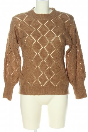 Kaffe Crochet Sweater brown casual look
