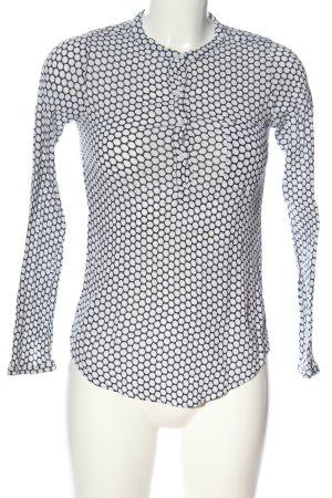 Kaffe Hemd-Bluse schwarz-weiß Punktemuster Casual-Look