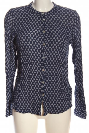 Kaffe Blouse-chemisier bleu imprimé allover style d'affaires