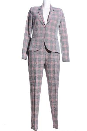 Kaffe Trouser Suit light grey-pink check pattern business style
