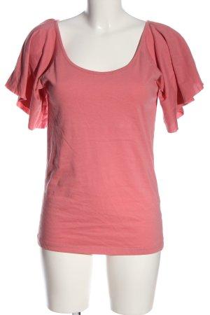 Kaffe Kurzarm-Bluse pink Casual-Look