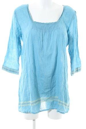 Kaffe Langarm-Bluse blau Casual-Look