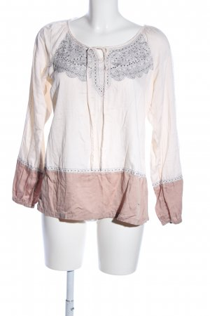 Kaffe Langarm-Bluse Mustermix Casual-Look