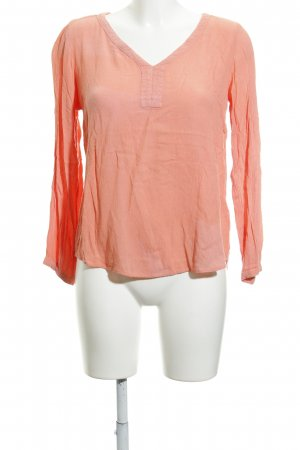 Kaffe Langarm-Bluse apricot Casual-Look