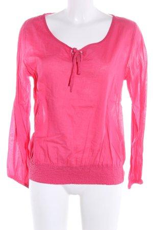 Kaffe Langarm-Bluse pink Casual-Look