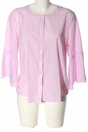 Kaffe Camicia a maniche lunghe rosa-bianco motivo a righe stile professionale